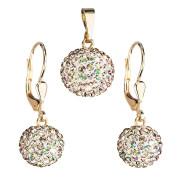 Souprava zlatých šperků s kamínky Swarovski 939072.6