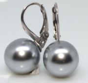 Dámské stříbrné náušnice s perlou 304192