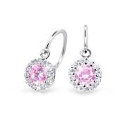 Zlaté dětské naušnice Cutie Jewellery C2745B Růžová
