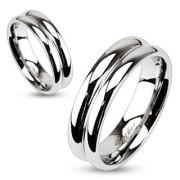 Ocelový prsten Spikes 2055