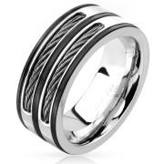 Ocelový prsten pro muže 4604