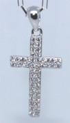 Přívěšek křížek se zirkony 306405