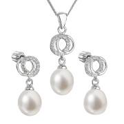 Souprava stříbrných perlových šperků 29003.1