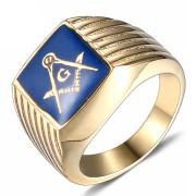 Ocelový pečetní prsten pro muže SEWJHZ54 - Svobodní zednáři