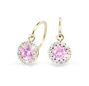 Dětské náušnice zlaté Cutie Jewellery C2745Z-Pink