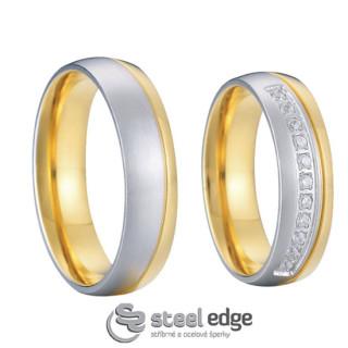 Luxusní ocelové snubní prsteny SPPL005