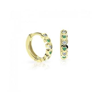Náušnice pro miminka C3339Z Emerald Green