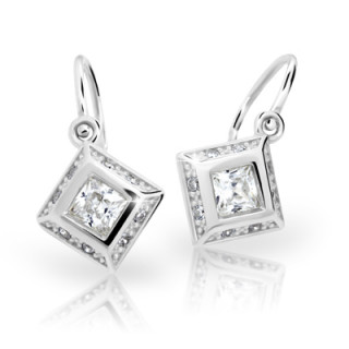 Zlaté dětské náušnice Cutie Jewellery C2501-B CZ White