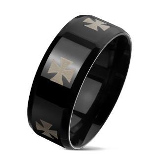 Ocelový prsten pro muže 6668