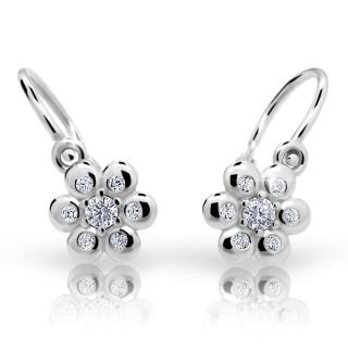 Náušnice pro miminka Cutie Jewellery C2247-B CZ White