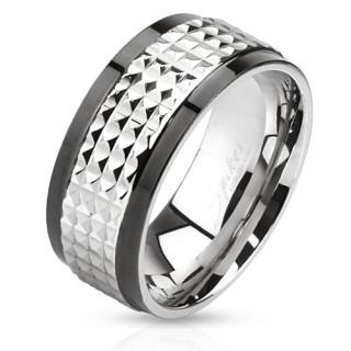 Ocelový prsten 2859