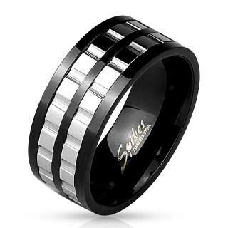 Ocelový prsten pro muže 4538