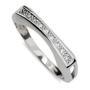 Stříbrný prsten se zirkony 2007