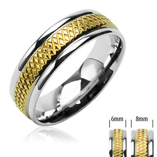 Ocelový prsten Spikes-SEHRH1608