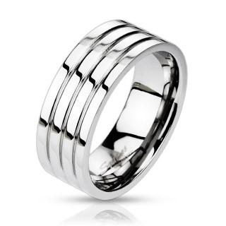 Ocelový prsten 0024