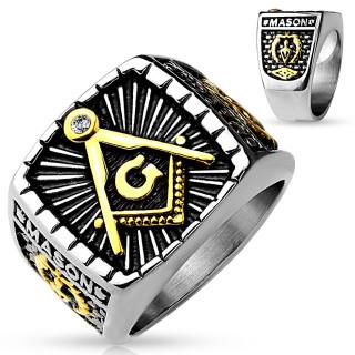 Pánský pečetní prsten 4659-Svobodní zednáři