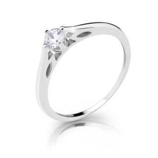 Stříbrný prsten se zirkonem 2411