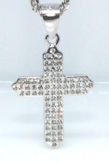 Přívěšek křížek se zirkony 304303