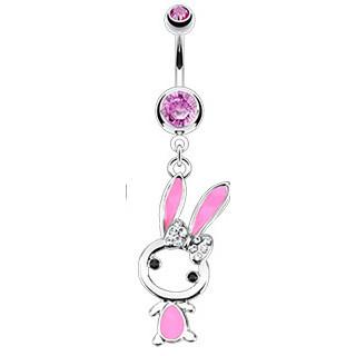 Piercing do pupiku 12431 - Pink