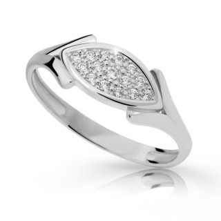 Stříbrný prstýnek se zirkony 2331