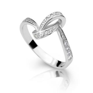 Stříbrný prstýnek se zirkony 2324