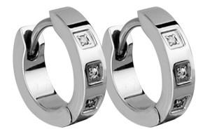 Ocelové náušnice s kamínky SEE001-Z6