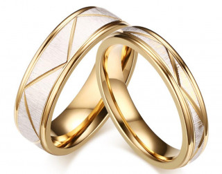 Snubní prsteny chirurgická ocel JCFCR074W