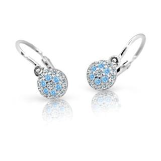 Dětské náušnice z bílého zlata Cutie Jewellery C2150B-Arctic Blue