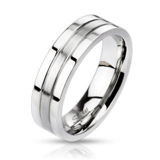 Prsten z chirurgické oceli 0023