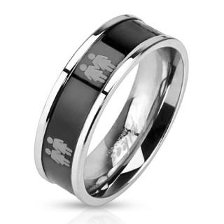 Ocelový prsten 3041-Žena