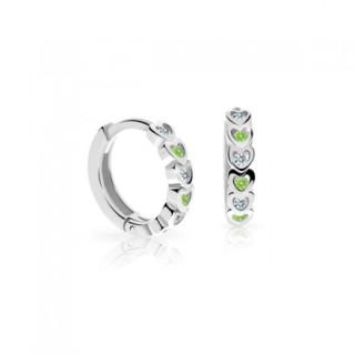 Náušnice pro miminka C3339 Peridot Green