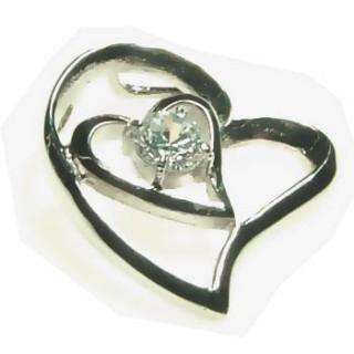 Ocelový přívěsek srdce z chirurgické oceli 6240