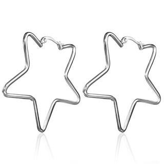 Ocelové náušnice hvězdy SESS0028