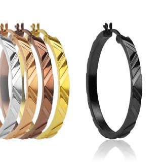 Ocelové náušnice kruhy Spikes-0357