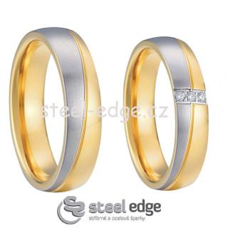 Snubní prsteny z chirurgické oceli SPPL003