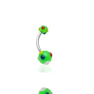 Piercing do pupíku 1622-GREEN