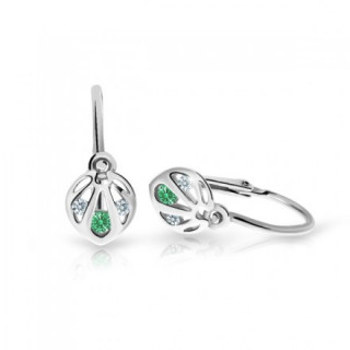 Náušnice pro miminka Cutie C2265B-Emerald Green