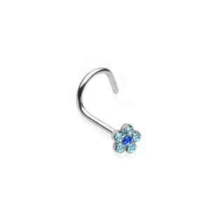 Piercing do nosu 06-BLUE