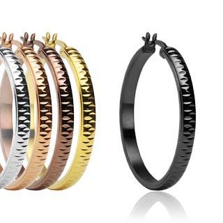 Dámské ocelové náušnice kruhy Spikes-0278