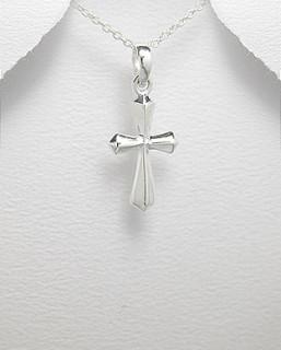 Přívěšek křížek stříbro 2575
