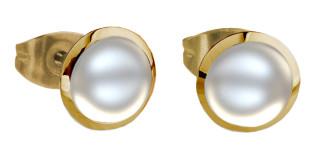 Náušnice perličky SEE158IPG-White