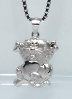 Dětský stříbrný přívěsek kočička 308054