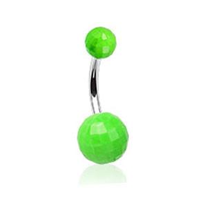Piercing do pupíku 023-GREEN