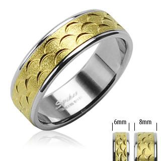 Ocelový prsten Spikes SERH0816