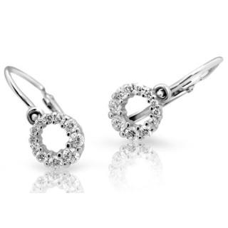 Náušnice pro miminka Cutie Jewellery C2154B CZ White