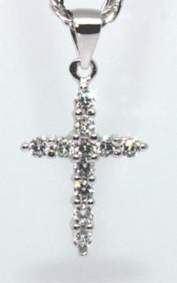 Přívěšek křížek se zirkony 305922