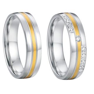 Ocelové snubní prstýnky SPPL013