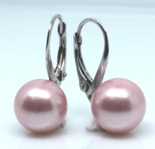 Dámské stříbrné náušnice s perlou 305055