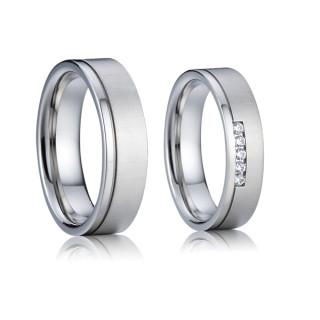 Ocelové snubní prstýnky SPPL014