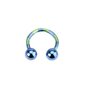 piercing podkova T11-BLUE1,2